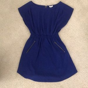 Blue cap sleeve dress size M